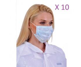 Χειρουργικές Μάσκες Προστασίας Προσώπου ΣΕΤ 10 ΤΕΜΑΧΙΩΝ